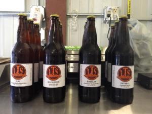 Sample bottles of LTS beer
