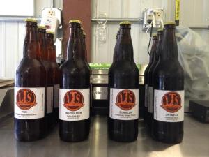 Sample bottles of LTS beer