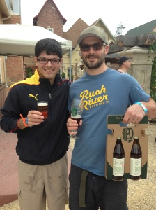 From left: Wisminbeer owner Louis Garcia and Forager Brewing Co. head brewer Austin Jevne.
