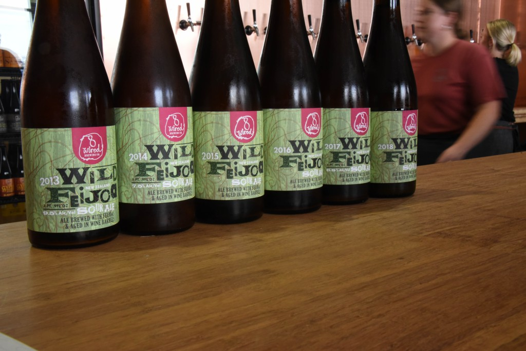 8 Wired Brewery Wild Feijoa sour ale vintages at the grand opening of the new taproom.